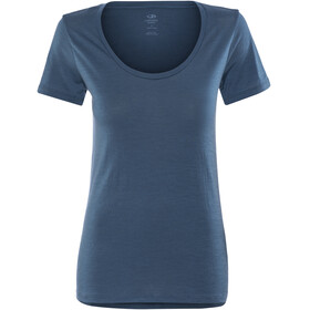 Icebreaker W's Tech Lite SS Scoop Shirt prussian blue